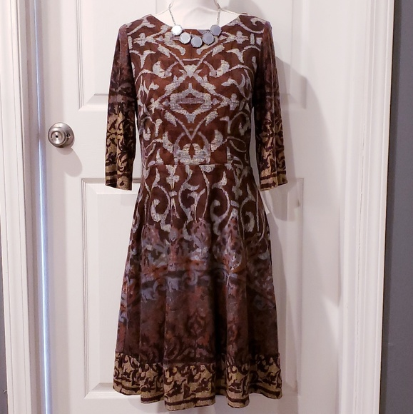 Chris McLaughlin Dresses & Skirts - NWT Chris McLaughlin Patterned Fit and Flare Dress